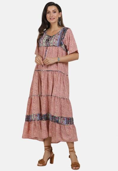 Usha Kleid in mischfarben / altrosa, Modelansicht