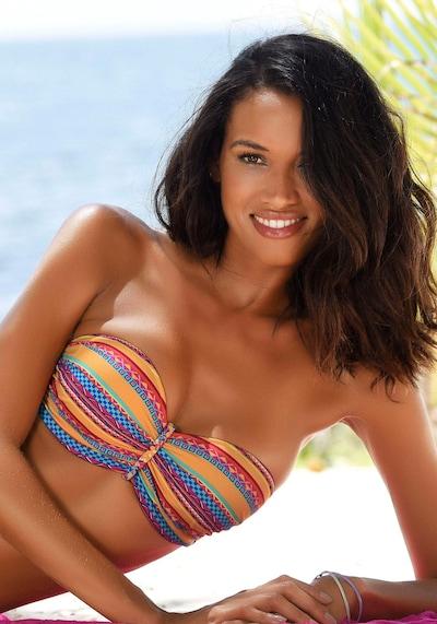 BUFFALO Hauts de bikini 'Lux' en mélange de couleurs: Vue de face