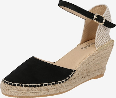 espadrij l´originale Strap sandal 'Biarritz Velour' in Black, Item view
