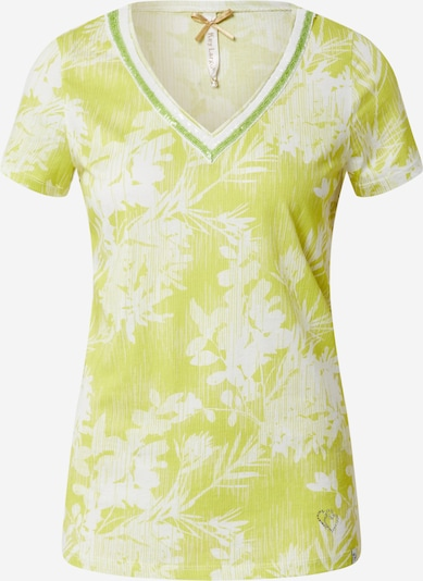 Key Largo Shirt 'WT HOME v-neck' in de kleur Kiwi / Offwhite, Productweergave