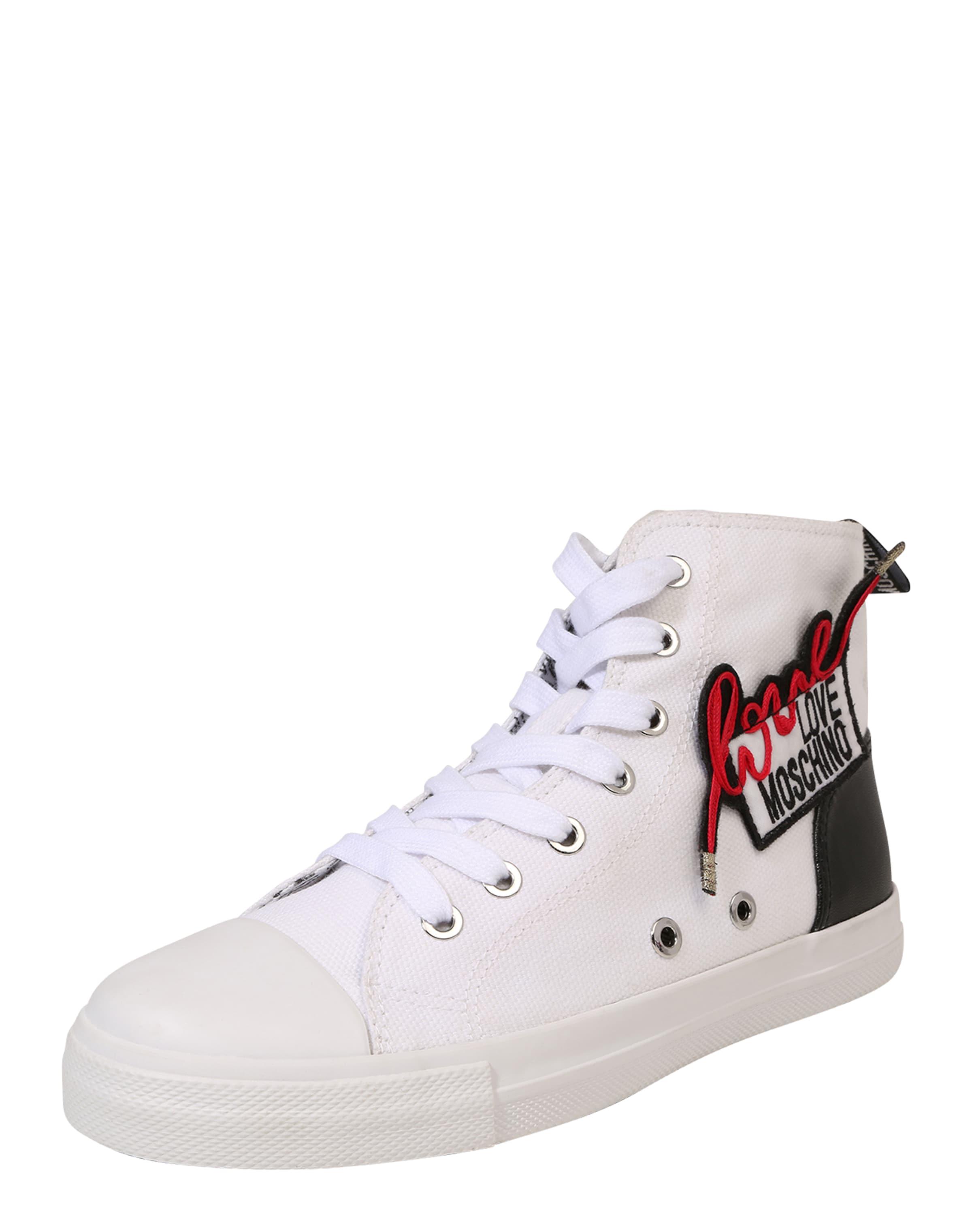 Love Moschino High-Sneaker 'BOSTON 1' weiß LL28S