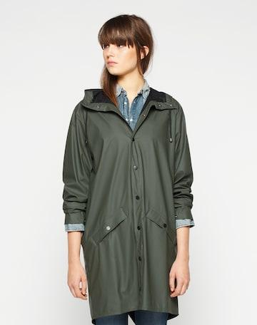 RAINS Between-seasons coat in Green