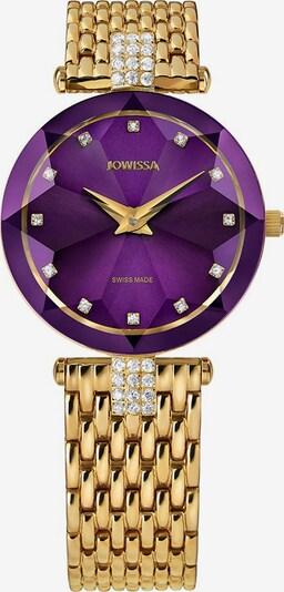 JOWISSA Quarzuhr 'Facet Strass' in lila, Produktansicht