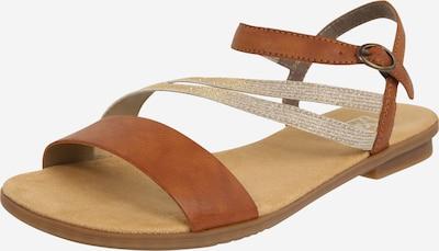 RIEKER Sandale in braun / gold, Produktansicht