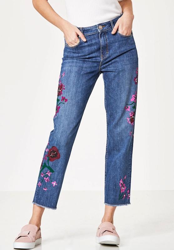 HALLHUBER Mom-Jeans mit Oil-on-Denim Print