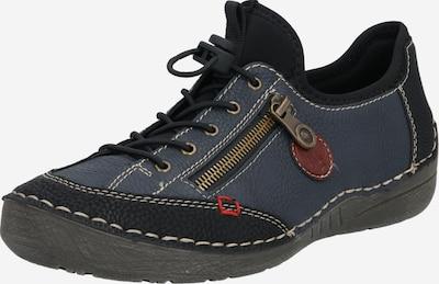 Sportinio stiliaus batai su raišteliais iš RIEKER , spalva - juoda: Vaizdas iš priekio