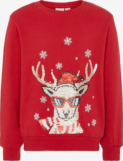 NAME IT Sweatshirt in braun / rot, Produktansicht