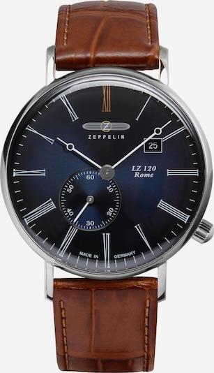 Zeppelin Uhr 'Rome' in dunkelblau / karamell / silber, Produktansicht