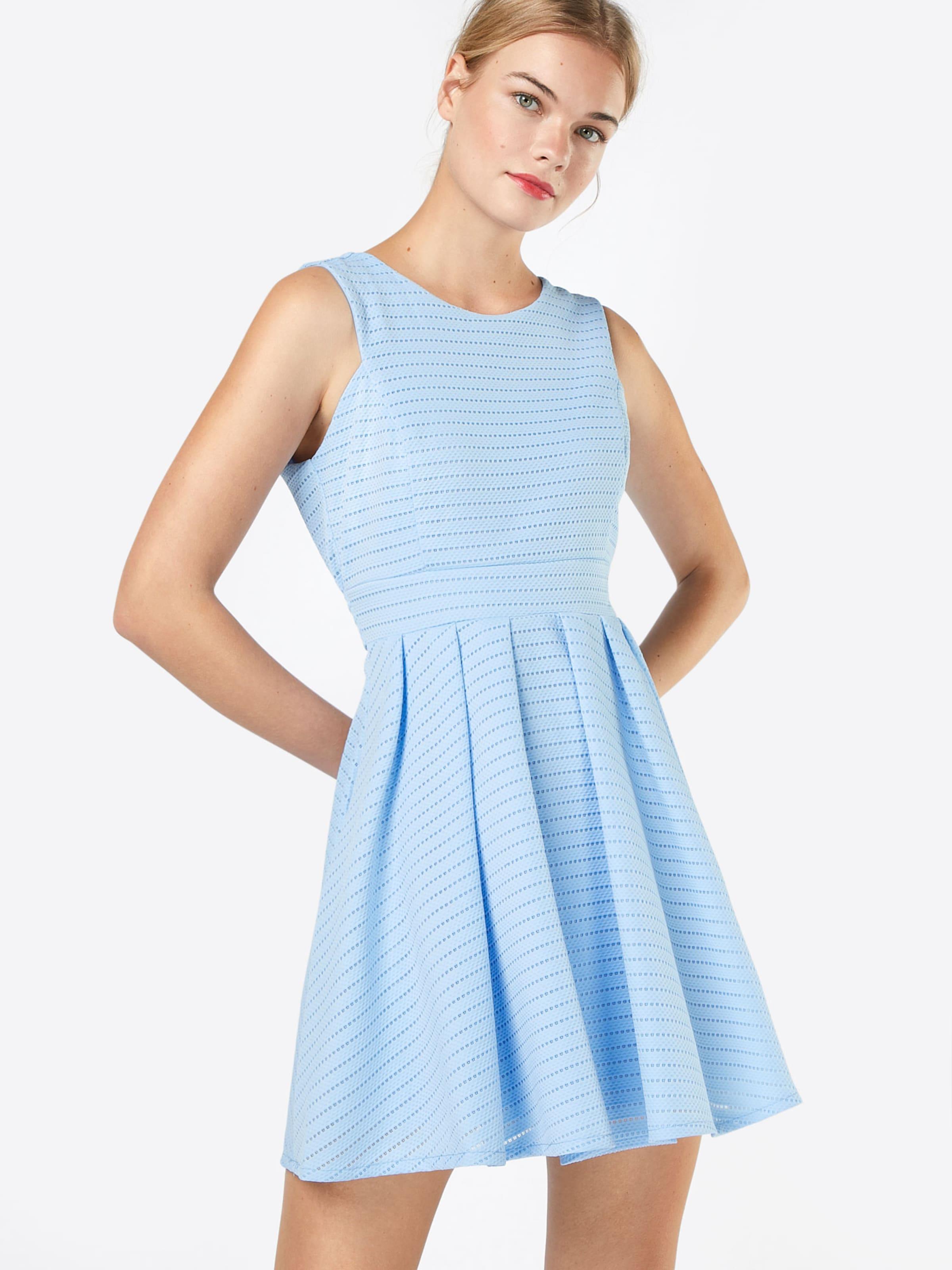 Mit Hellblau GAusgestelltes Kleid Lochmuster Wal In Pk80wnOX