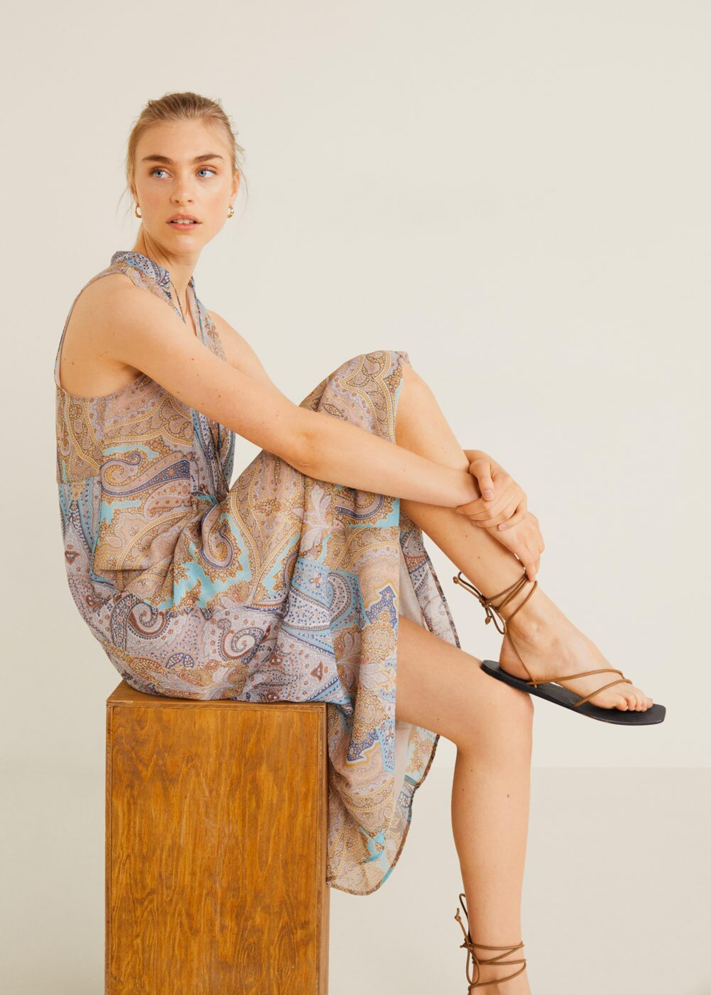 Kleid In Mango Mischfarben 6fyyb7g 'zoco' vmNnw80