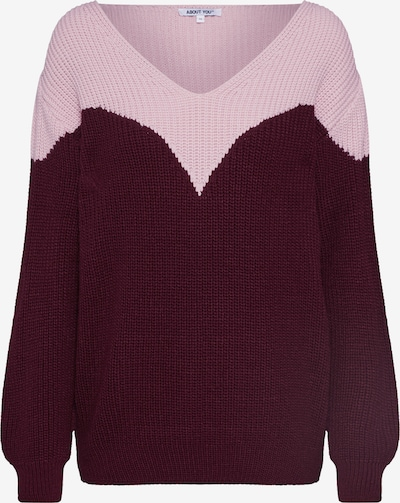 ABOUT YOU Pull-over 'Hanke' en rose / bordeaux: Vue de face