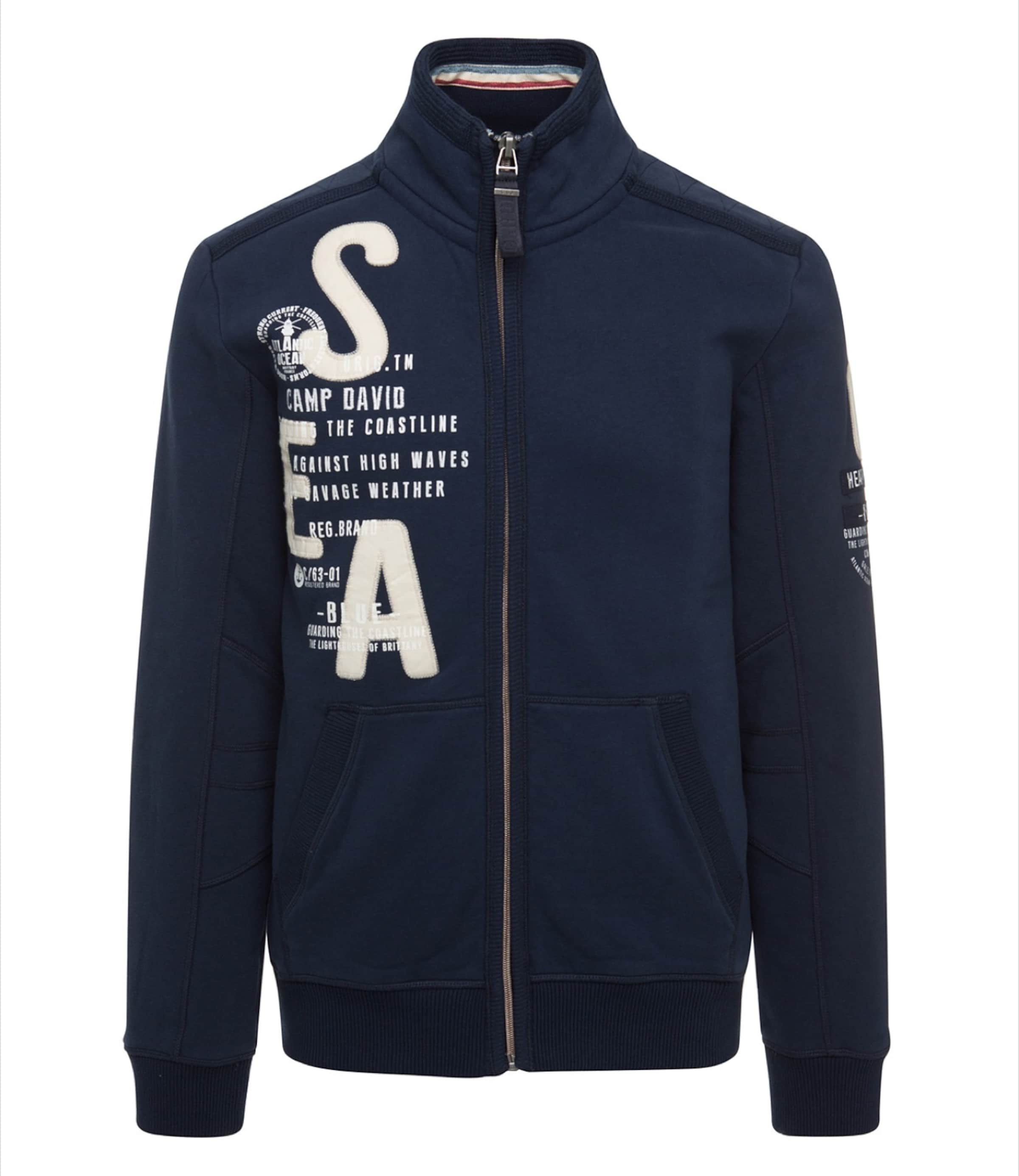 BeigeNavy In Weinrot David Camp Sweatjacke wXZTOkiulP