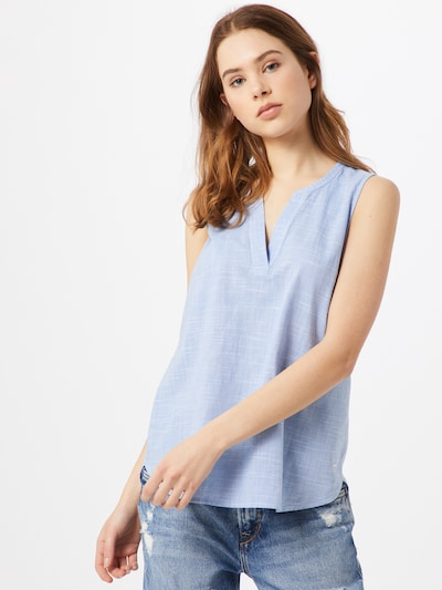 TOM TAILOR DENIM Bluse in rauchblau, Modelansicht