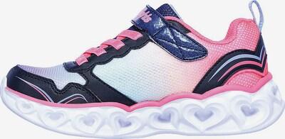 SKECHERS Sneaker in blau / grau / pink, Produktansicht