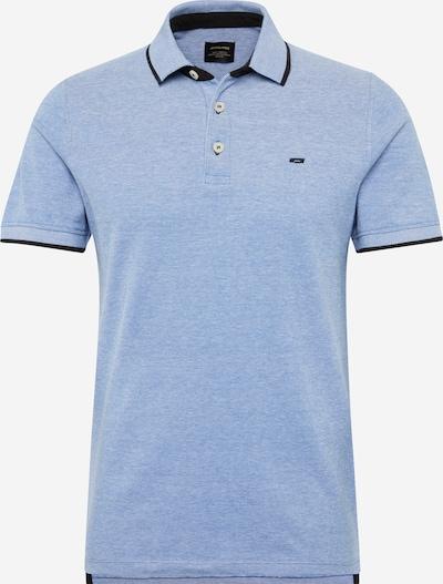JACK & JONES Shirt 'JJEPAULOS POLO SS' in de kleur Hemelsblauw / Donkerblauw, Productweergave