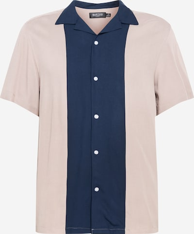 BURTON MENSWEAR LONDON Hemd 'Cam' in navy / hellbraun, Produktansicht