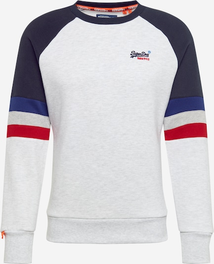 Superdry Sweatshirt 'OL ENGINEERED CREW' in de kleur Blauw / Grijs, Productweergave