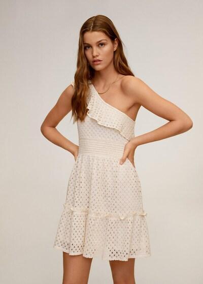 MANGO Kleid in creme, Modelansicht