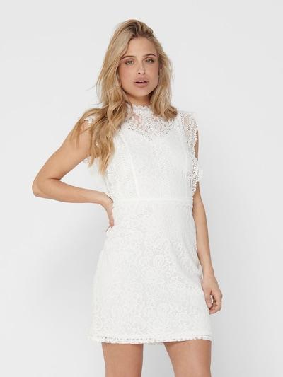 ONLY Robe de cocktail 'Karo' en blanc, Vue avec modèle