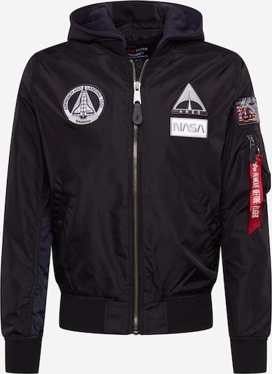 ALPHA INDUSTRIES Jacke 'NASA' in schwarz / weiß, Produktansicht