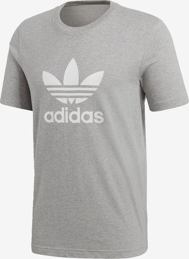 ADIDAS ORIGINALS T-Shirt 'TREFOIL' in graumeliert / weiß, Produktansicht