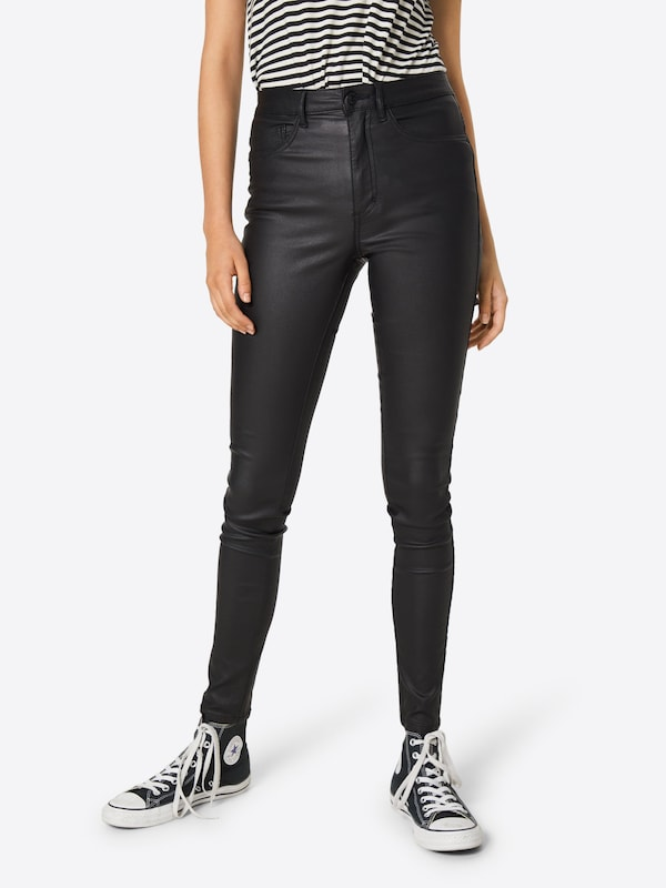 Pantaloni 'ROYAL ROCK COATED NOOS' ONLY pe negru, Vizualizare model