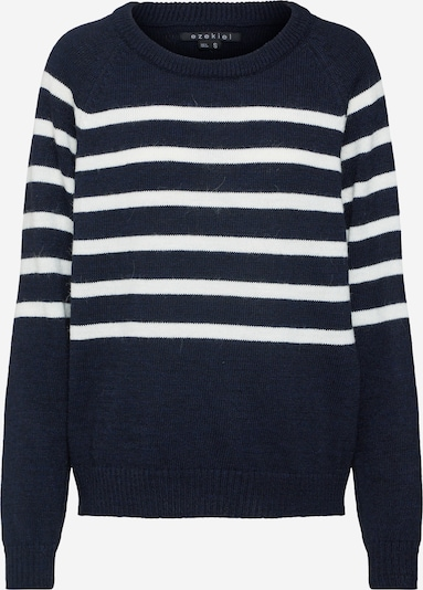 Ezekiel Svetr 'Piper Crewneck Knit Sweater' - námořnická modř / bílá, Produkt