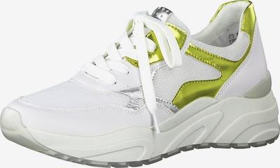 MARCO TOZZI Sneakers laag in de kleur Goud / Zilver / Wit, Productweergave
