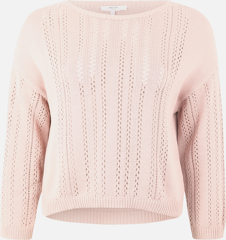 ABOUT YOU Curvy Pullover 'Hermine' in rosé, Produktansicht