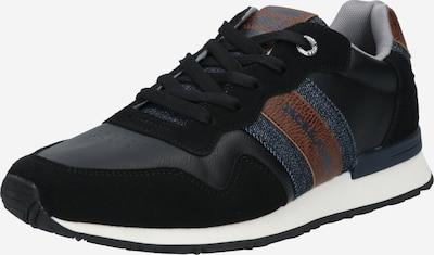 JACK & JONES Sneakers laag 'STELLAR' in de kleur Blauw denim / Donkerblauw / Karamel / Zwart, Productweergave