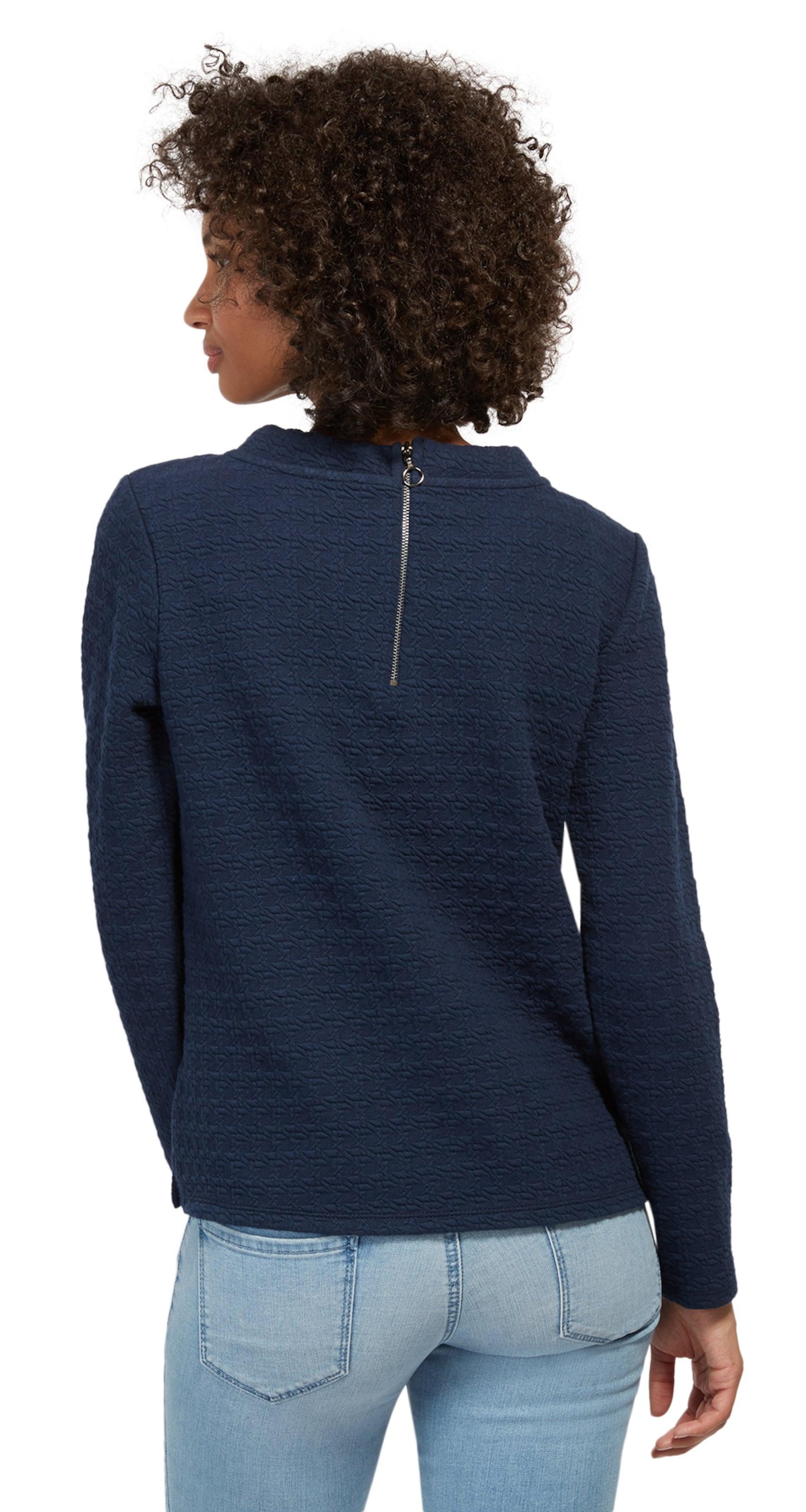 TOM TAILOR Strukturiertes Sweatshirt Fälschung ba5sUKbd