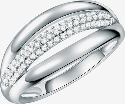 Rafaela Donata Ring in silber / weiß: Frontalansicht