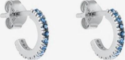 ID Fine Creolen 'Blue Simplicity' in hellblau / silber, Produktansicht