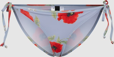Y.A.S Bikinibroek 'YASBLOOM BRIEF' in Smoky blue / Lichtgroen / Lichtrood
