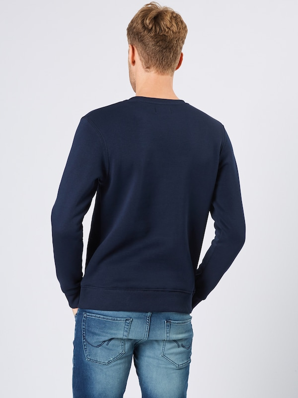 JACK & JONES Sweatshirt 'JORBEYOND SWEAT CREW NECK' in navy / gelb / weiß: Rückansicht