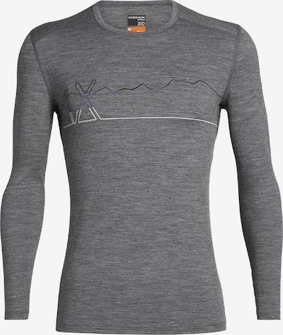 Icebreaker Shirt '200 Oasis LS Crewe Single Li' in graumeliert, Produktansicht