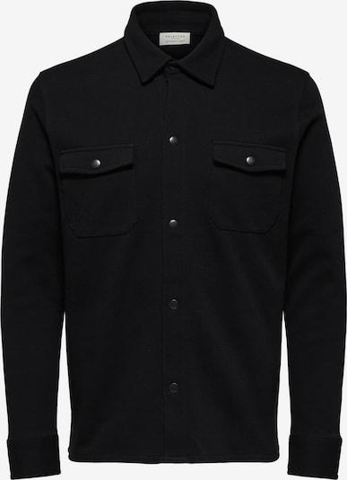 SELECTED HOMME Bio-Baumwoll Jacke in schwarz, Produktansicht