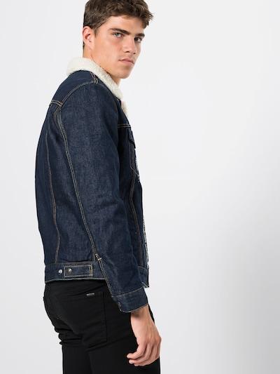 LEVI'S Jeansjacke 'TYPE 3 SHERPA TRUCKER' in beige / blue denim: Rückansicht