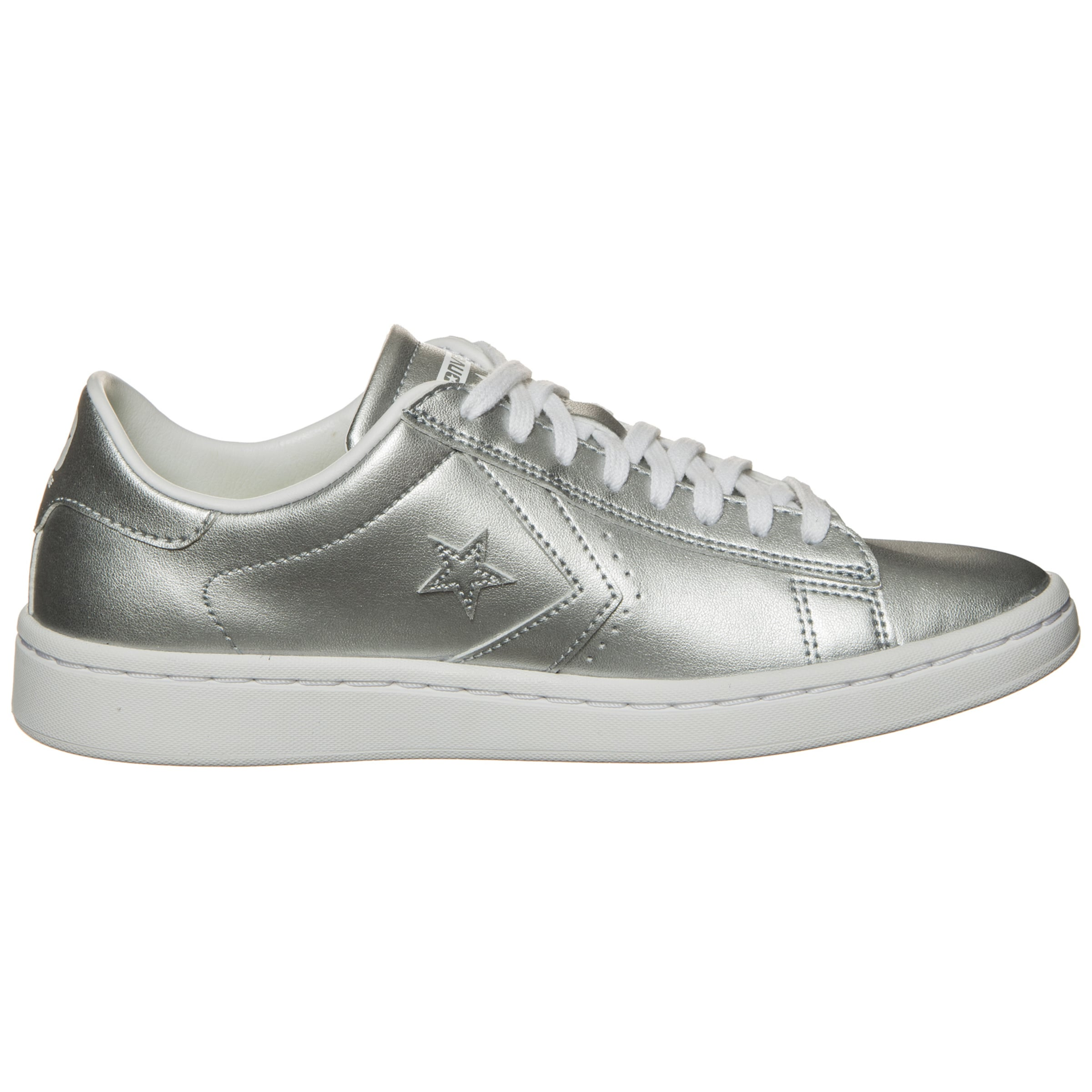 Metallic In Leather Ox' Silber Lp Converse Sneaker 'pro QhrCdts