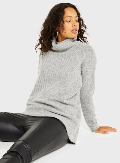 Miss Selfridge Pullover in grau, Modelansicht