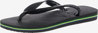 HAVAIANAS Tådelare 'Brasil Logo' i svart, Produktvy