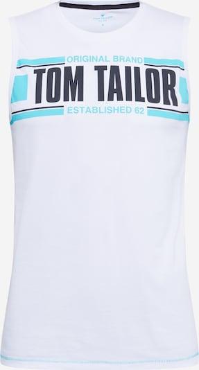 TOM TAILOR Majica u svijetloplava / crna / bijela, Pregled proizvoda