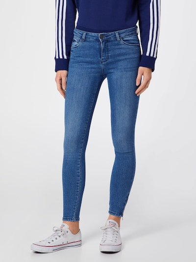 Noisy may Jeans 'NMKIMMY NW ANKLE ZIP JEANS' in blue denim, Modelansicht