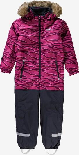 LEGO WEAR Schneeanzug in nachtblau / braun / pink, Produktansicht
