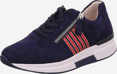 GABOR Sneaker in dunkelblau / rot / weiß, Produktansicht