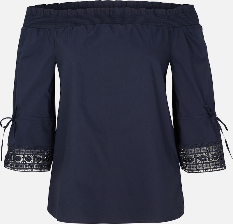 S.Oliver schwarz LABEL Off Shoulder-Blause in in in nachtblau  Mode neue Kleidung cc1ba8