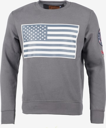 TOP GUN Sweater  ' TG-9018 ' in Grau