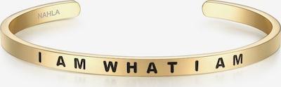 Nahla Jewels Armband mit Schriftzug I AM WHAT I AM in gold / schwarz, Produktansicht