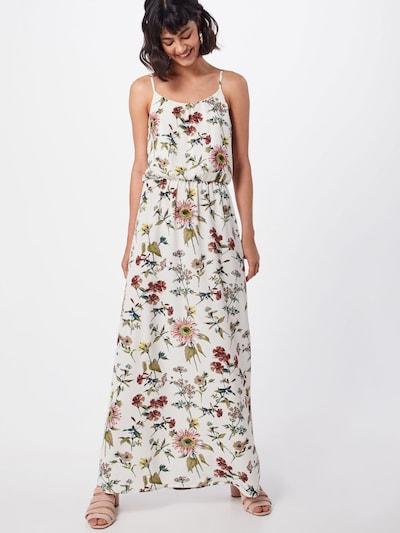 ONLY Damen - Kleider 'onlWINNER SL MAXIDRESS WVN' in grasgrün / altrosa / weiß, Modelansicht