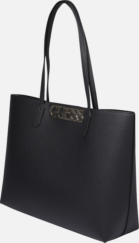 Cabas Barcelone Guess En Chic Tote' Noir 'uptown mwON8yvPn0